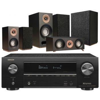 DENON Equipo AV AVR-X1500H + Jamo S803 HCS + S808 SUB Negro Altavoces Home Cinema