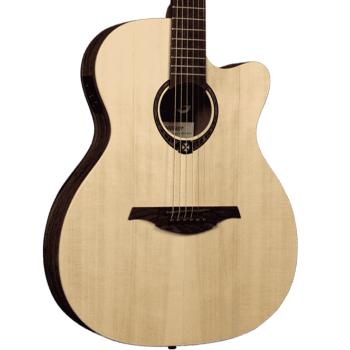 LAG T270ASCE Guitarra Electro Acústica Auditorium Serie Tramontane con Cutaway Acabado Natural