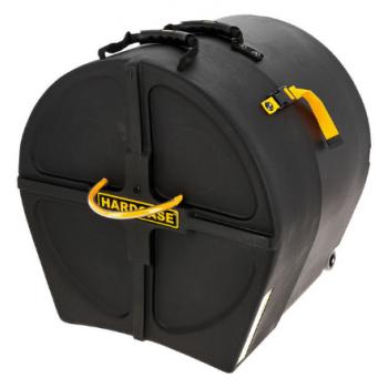 Hardcase HN16B Estuche de Transporte con Ruedas para Bombo de 16