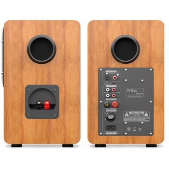 Equipo HiFi Giradiscos Fonestar VINYL 12U Linea / Phono, Capsula Audio Technica + Altavoces Estantería Bluetooth Wiibo NEO 100