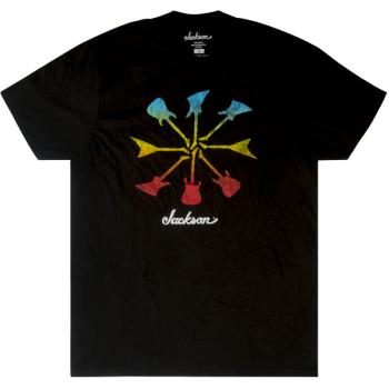 Jackson T-Shirt Guitar Shapes Black Talla L