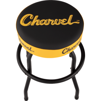 Charvel Taburete Logo Black-Yellow 24