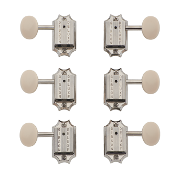 Gibson PMMH-060 Deluxe White Button Set de Clavijeros Vintage Nickel