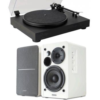 Equipo HiFi Giradiscos Fonestar Vinyl 13 + Altavoces Edifier R1280T Blancos Activos
