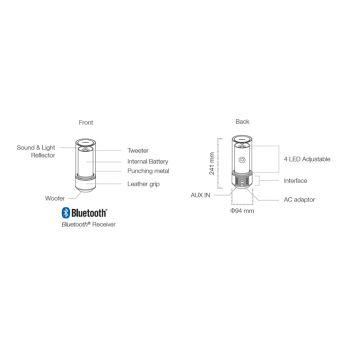 YAMAHA LSX70 Bronce Sistema Audio con Iluminacion