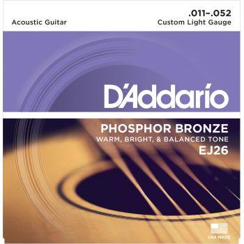 D Addario EJ26 Juego Cuerdas Guitarra Acústica