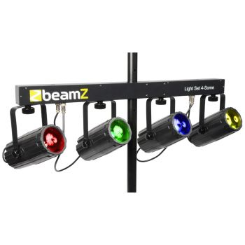 BEAMZ 153739 4-Some Conjunto 4x 57 RGBW LEDs DMX