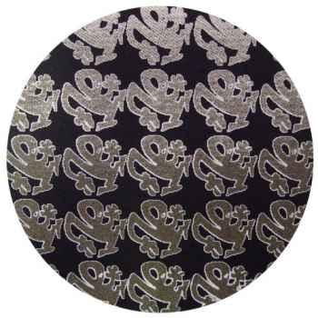 Zomo Slipmat Plasticman schwarz metallic Logo klein (Doppelpack)