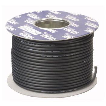 DAP Audio MC-226B Bobina de cable negro para micrófono con doble aislamiento de 100m