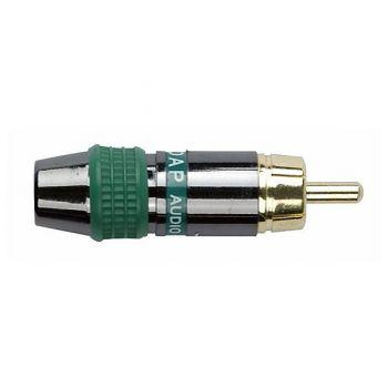 DAP Audio Conector RCA Macho con banda verde RF:RMK102G