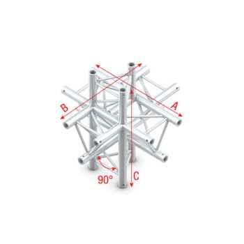 Showtec Cross up down 6-way Cruce de Truss Triangular DT22022