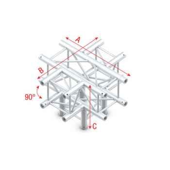Showtec Cross - Down 5-way Cruce Cuadrado de 5 Direcciones PQ30024
