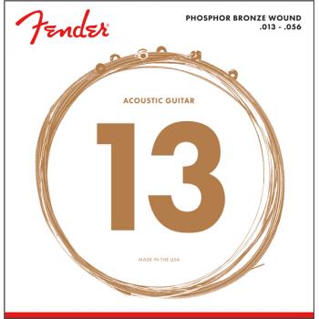 Fender Phosphor Bronze Acoustic Guitar Cuerdas 60M .013-.056