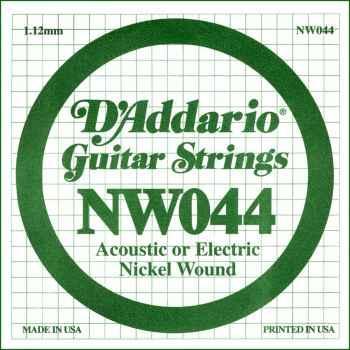 D´addario NW044 Cuerda Suelta para Guitarra Eléctrica