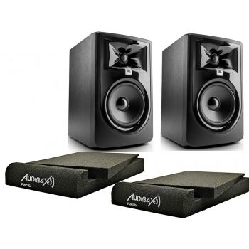 JBL Pareja 305P MKII Monitor Estudio Bi-amplificado + 2 Audibax PAD5