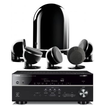 Yamaha RXV685+FOCAL DOME 5.1 BLACK Conjunto Home Cinema