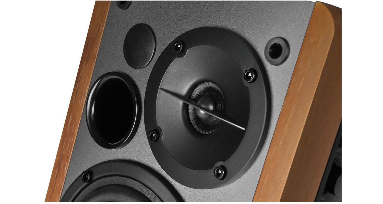 Entrada /óptica Edifier R1280DBs Altavoces Activos de estanter/ía con Bluetooth 42W RMS con Salida de l/ínea para subwoofer Altavoces de Estudio Tipo Monitor 2.0 Wireless Grano de Madera