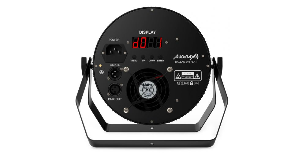 audibax dallas 210 flat foco led iluminacion discoteca