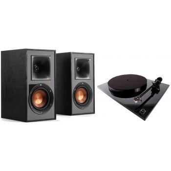 REGA Planar 1 Negro+ Klipsch R14PM Conjunto sonido