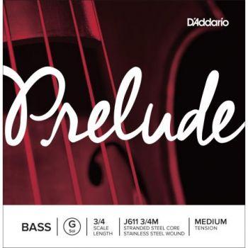 D´addario J611 Cuerda Suelta Contrabajo Prelude Sol (G) 3/4 Tensión Media