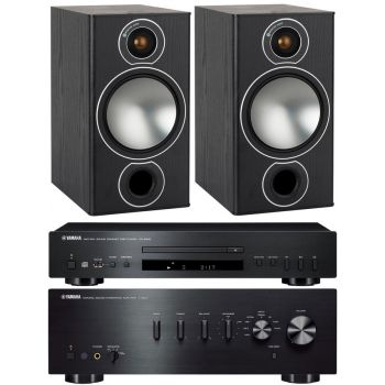 YAMAHA AS501BK+CDS300+Monitor Audio Bronze 2 black Conjunto audio