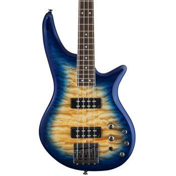 Jackson JS3Q Spectra Bass LRL Amber Blue Burst