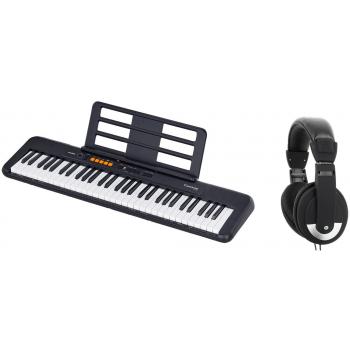 CASIO CT-S100 Teclado Portátil de 61 Teclas + Auriculares Oqan QHP-10