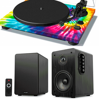 Equipo HiFi TEAC TN-420 TD Giradiscos USB + Audibax Beta 1BT Altavoces Activos Bluetooth