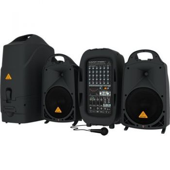 BEHRINGER PPA2000BT Sistema PA, 2000w, 8 Canales, Ultracompacto