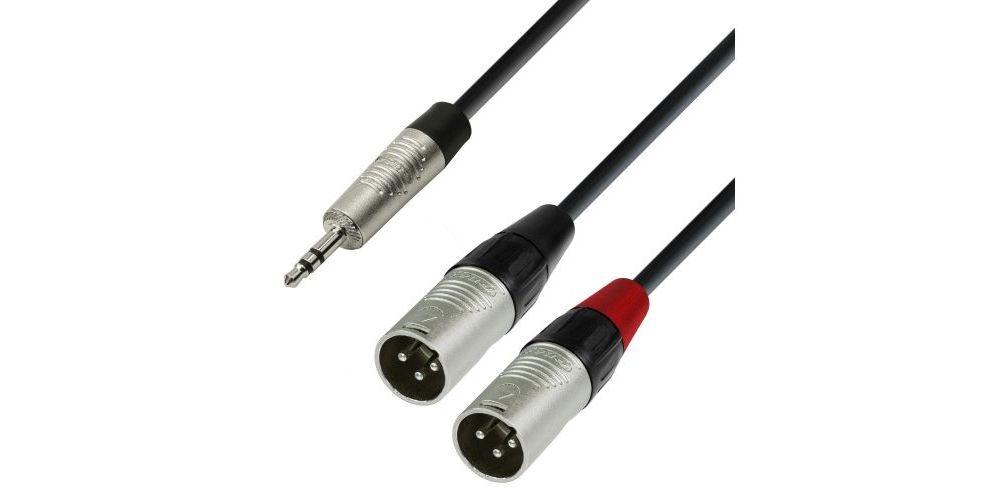 ADAM HALL Cable REAN Mini Jack Stereo a 2 XLR Macho 3 Metros RF:54