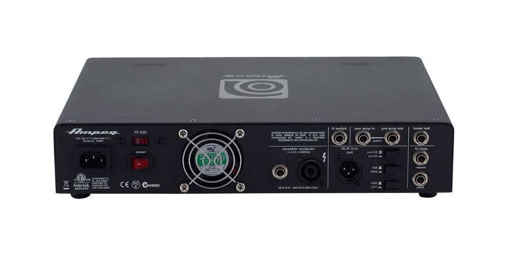 ampeg pf 500 mosfet preamp back