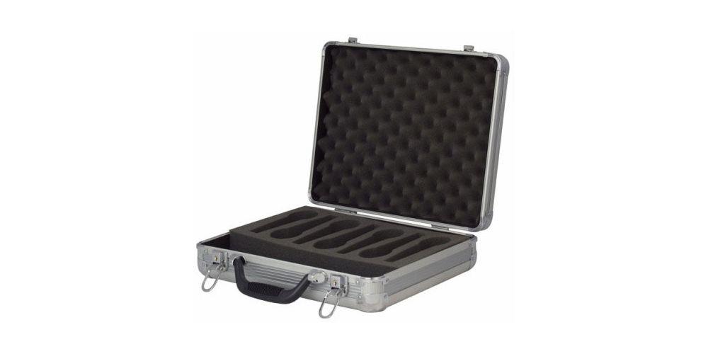 dap audio case for 7 microphones d7304s open