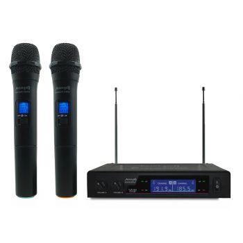 Audibax Missouri 2000 Microfono Doble Inalámbrico Mano VHF Rango B