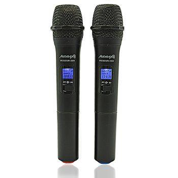 Audibax Missouri 2000 Microfono Doble Inalámbrico Mano VHF Rango A ( REACONDICIONADO )