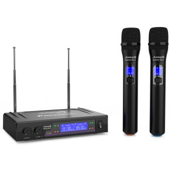 Audibax Missouri 2000 Micrófono Doble Inalámbrico Mano VHF Rango B