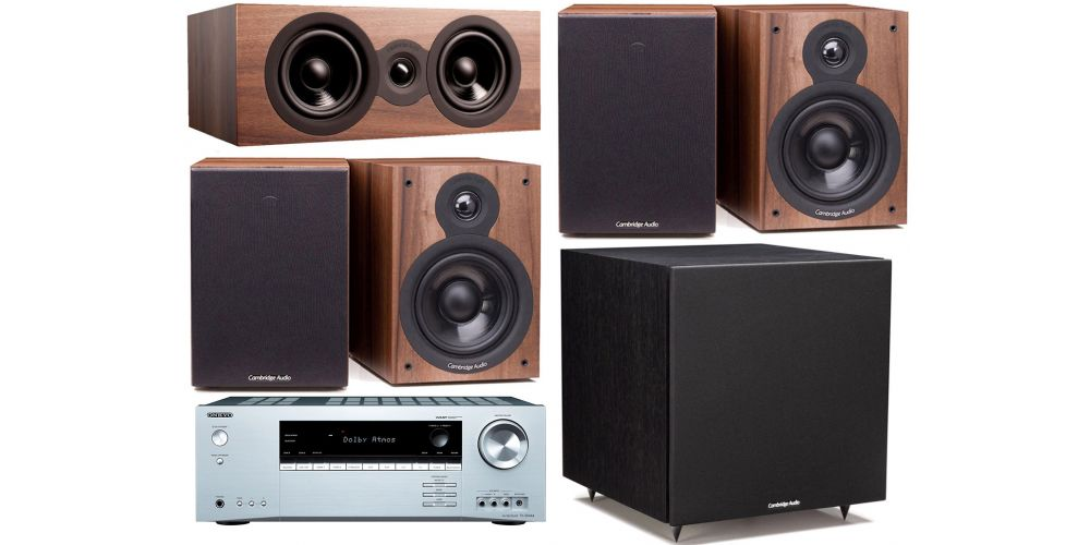 onkyo txsr444 silver cambridge SX50 Walnut cinema pack altavoces sx50 sx70 sx120