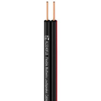 Adam Hall KLS 240 FLB Bobina Cable de altavoz flexible multihilo 2 x 4 mm² negro 100m