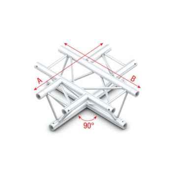 Showtec 90 4-way horizontal Cruce Triangular 4 Direcciones FT30016
