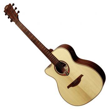 LAG TL88ACE Guitarra Electro Acústica Para Zurdos Cuerpo Tipo Auditorium Cutaway