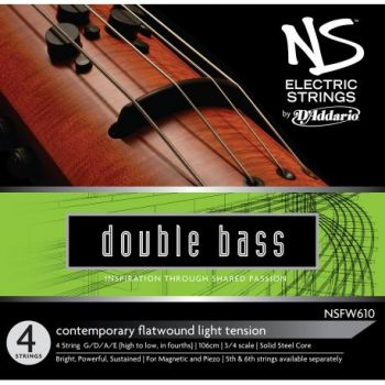 D´addario NSFW610 Juego de 4 cuerdas para contrabajo eléctrico