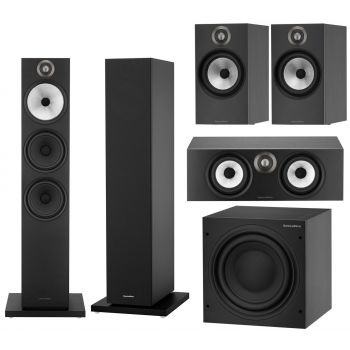 BW 603+BW607+BW HTM6+ASW608 Black Conjunto altavoces Home Cinema