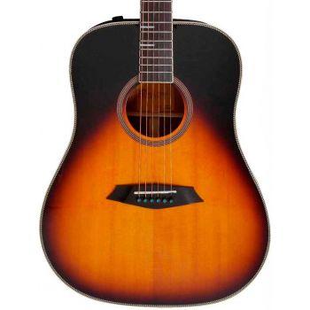 Larry Carlton A4-D Guitarra Acústica Dreadnought Vintage Sunburst