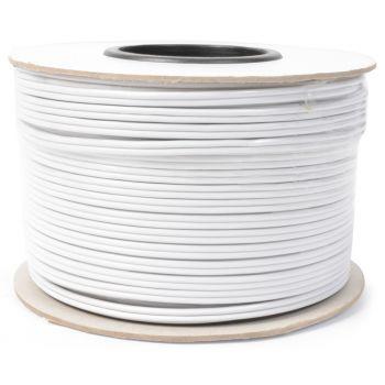 Power Dynamics RX28 Cable Altavoz Paralelo Blanco 100 Metros