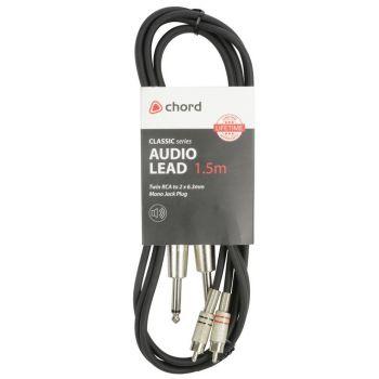 Chord Cable 2 RCA Macho - 2 Jack Mono 3 Metros 190.068