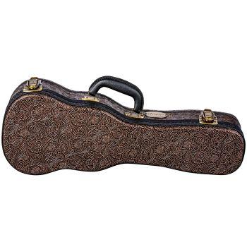 Luna Guitars Hard Case Tooled Leather Soprano. Estuche para Ukelele