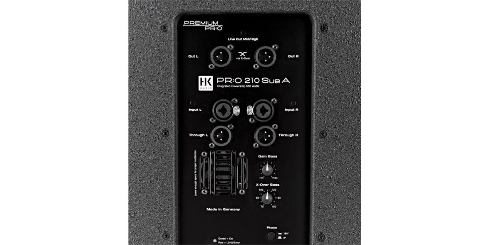 hk audio premium pro 210 sub a amplificador