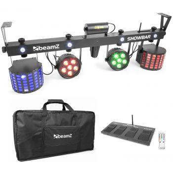 Beamz ShowBar con 2x Foco PAR 6x 4en1 2xButterfly, Laser R/G DMX 153800