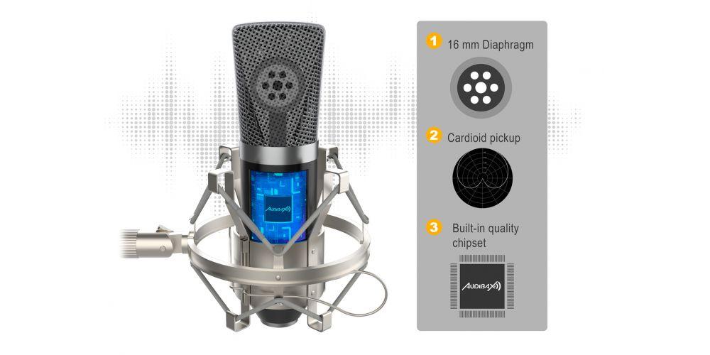 audibax berlin1800 microfono estudio