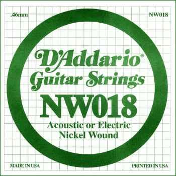 D´addario NW018 Cuerda Suelta para Guitarra Eléctrica
