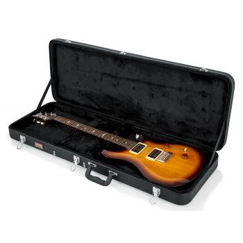 Gator GWE-ELEC-WIDE Estuche de Madera para Guitarra Eléctrica Color Negro